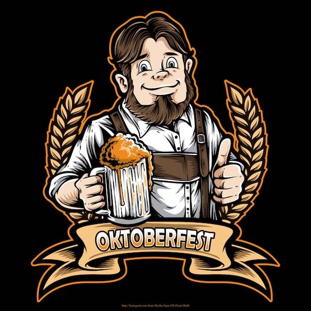 ビールを保持している男性 Premiumベクター