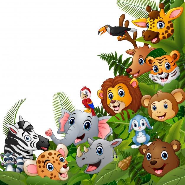 動物の森の漫画は一緒に会う Premiumベクター