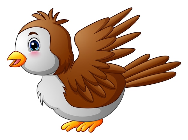 かわいい漫画ロビン鳥 Premiumベクター