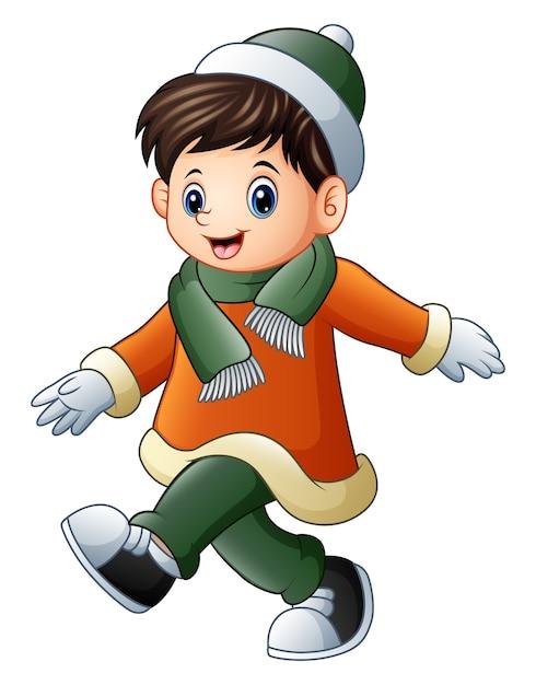 Картинки для детей девочка и мальчик в зимней одежде