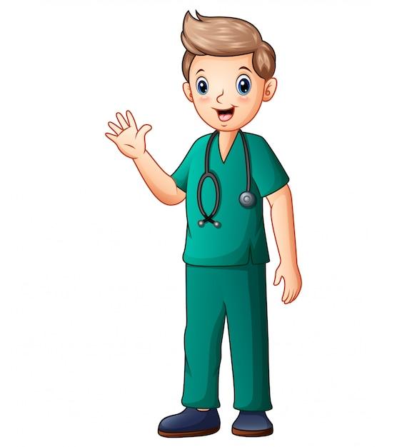 若い外科医の医療コンセプト Premiumベクター