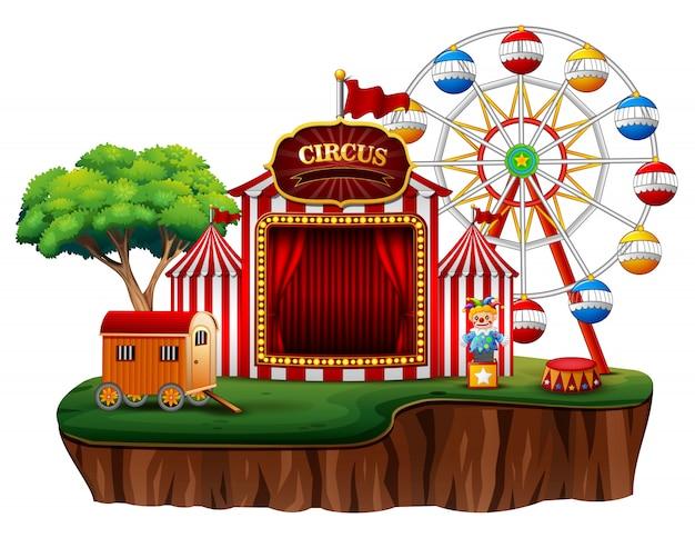 Пусто веселая ярмарка парк развлечений цирк Premium векторы