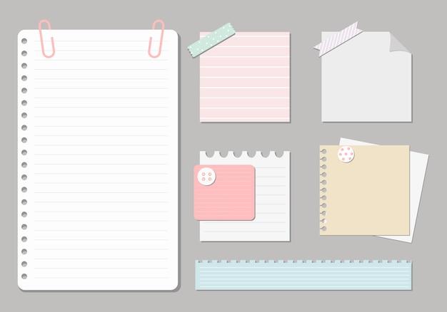 ノートブックのデザイン要素 Premiumベクター