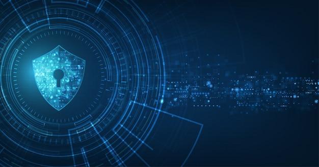 Абстрактный фон безопасности цифровых технологий. Premium векторы