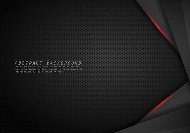 Абстрактная металлическая современная красная черная рамка дизайна инновационная концепция макета фон. Premium векторы