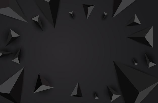 抽象的な三角形の背景。 Premiumベクター
