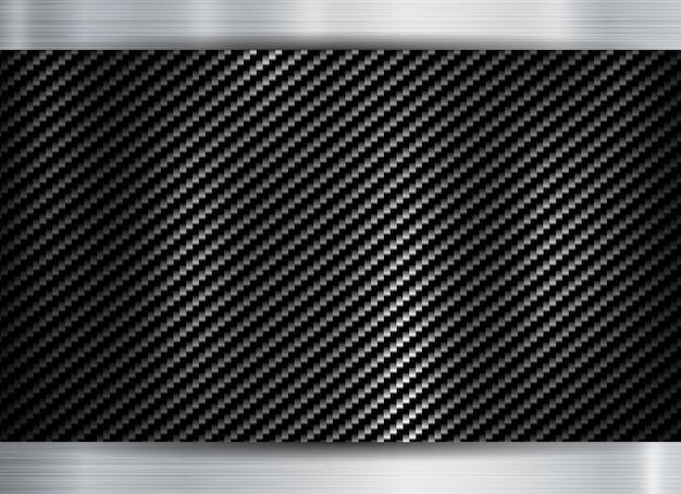 金属フレームカーボンケブラーテクスチャ Premiumベクター