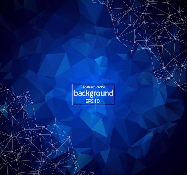 抽象的な多角形の線形デジタルテクスチャパターン Premiumベクター