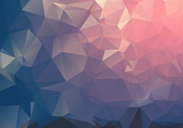 暗い光の幾何学的なしわくちゃの三角形低ポリ折り紙スタイルグラデーション図グラフィックの背景。 Premiumベクター