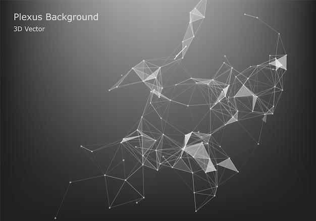 抽象的なインターネット接続と技術グラフィックデザイン。抽象的なインターネット接続と技術グラフィックデザイン。 Premiumベクター