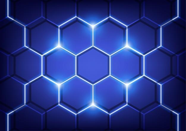 ヘキサ壁、技術ベクトルの概念。 Premiumベクター