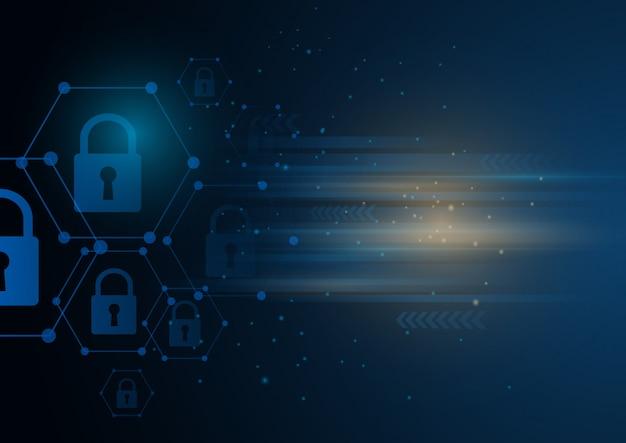 等角インターネットセキュリティロックビジネスコンセプト。 Premiumベクター