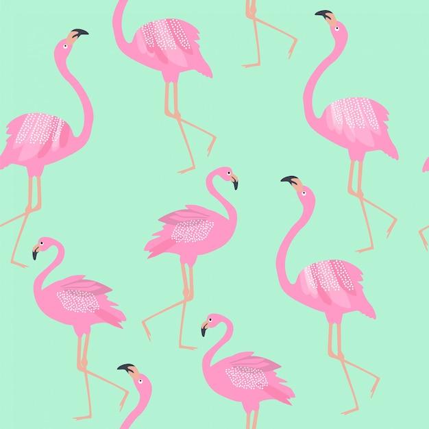 края картинка с фламинго на голубом фоне видом