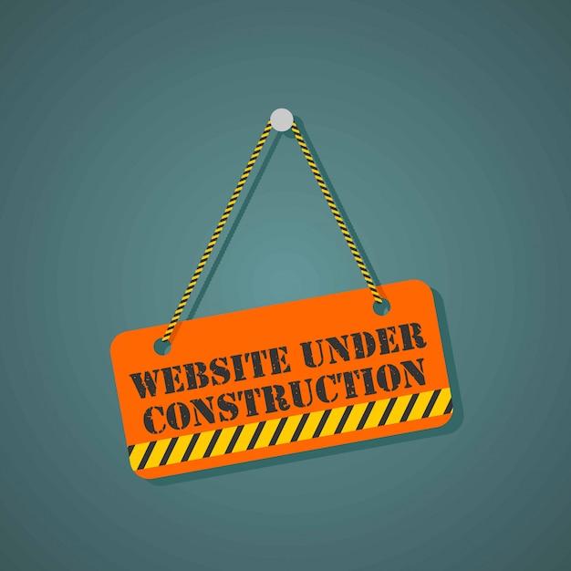 建設中のウェブサイトのページ Premiumベクター