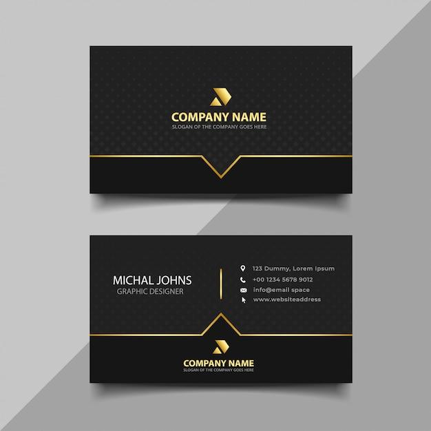 黒と金の名刺 Premiumベクター