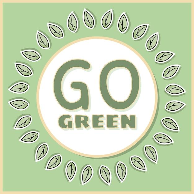 緑色のポスターに行きます。 Premiumベクター