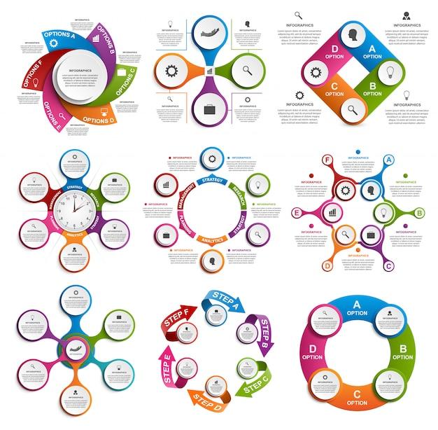 Коллекция инфографики. векторные элементы дизайна. Premium векторы