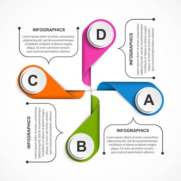 ビジネスオプションのインフォグラフィック、タイムライン。 Premiumベクター