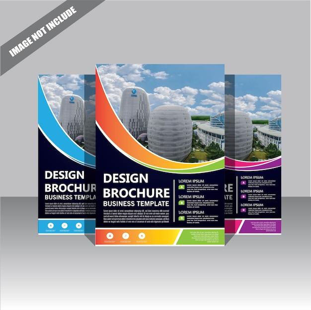 フライヤーパンフレットテンプレートレイアウトカバーデザイン年次報告書 Premiumベクター