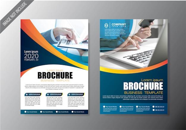 アニュアルレポートのカバーチラシとパンフレットのビジネステンプレート Premiumベクター