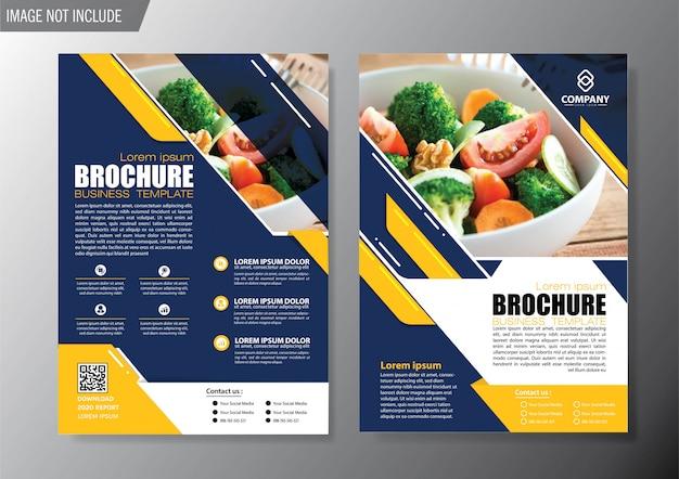 Обложка флаера и брошюра бизнес шаблон для годового отчета Premium векторы