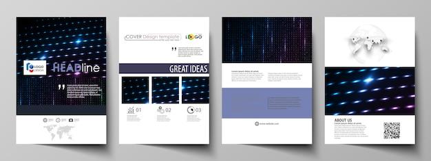 Бизнес шаблоны для брошюры Premium векторы