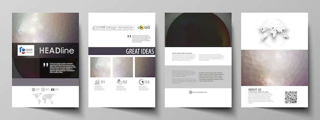 Бизнес-шаблоны для брошюры, журнала, флаера, буклета, отчета. Premium векторы