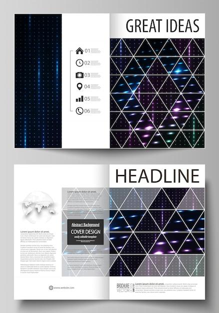 Бизнес-шаблоны для складной брошюры, флаера, буклета. Premium векторы