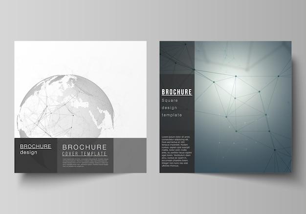 Квадратные форматы для брошюры Premium векторы