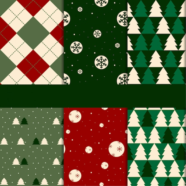 パターンクリスマス Premiumベクター