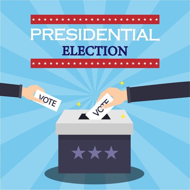 大統領選挙の概念図 Premiumベクター