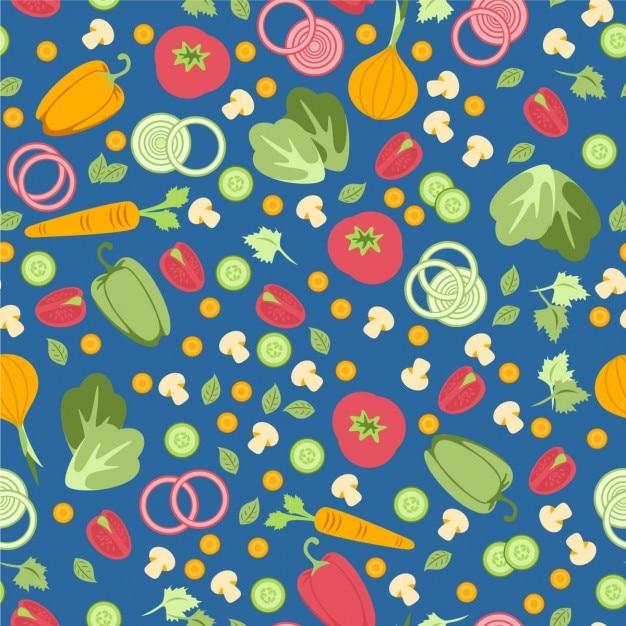 野菜とのシームレスなパターン 無料ベクター