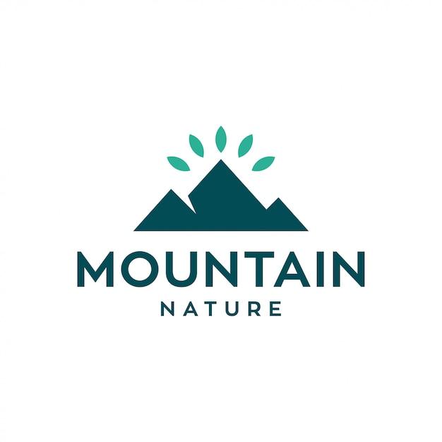 山のロゴデザインコンセプト。普遍的な自然のロゴ。 Premiumベクター