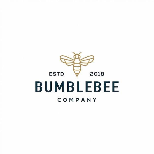 蜂のロゴ Premiumベクター