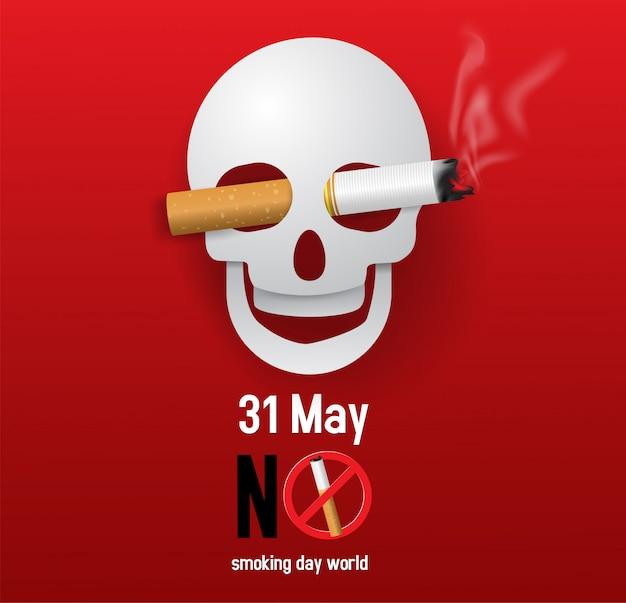 概念のベクトルイラストない喫煙日の世界 Premiumベクター