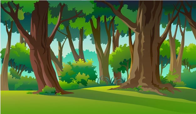 Нарисуйте иллюстрации в естественной и естественной среде Premium векторы