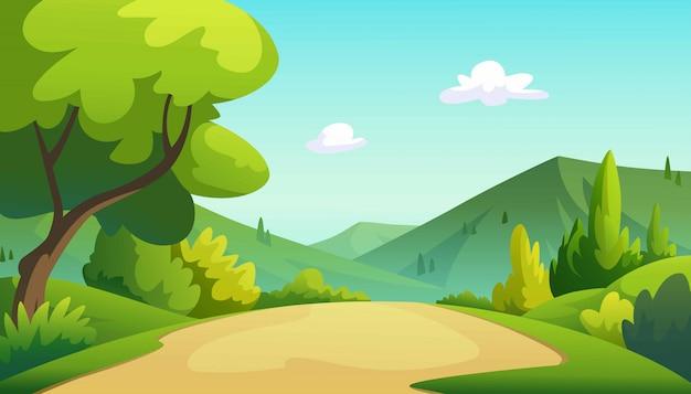 Иллюстрация дерева и графика джунглей. Premium векторы