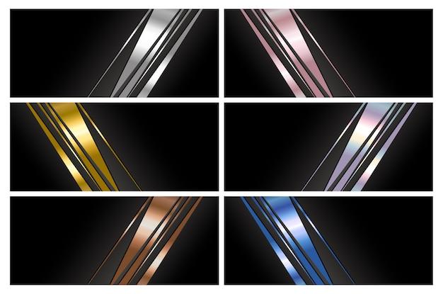 Абстрактный роскошный дизайн фона баннера с копией пространства Premium векторы
