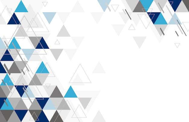 三角形の抽象的な幾何学的な背景デザイン Premiumベクター