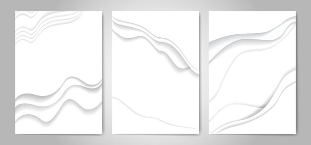 抽象的なホワイトペーパーカットの背景 Premiumベクター