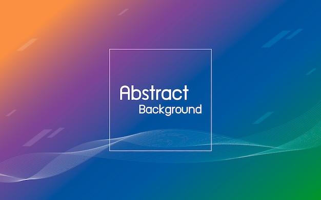 ライン波背景と抽象的な色 Premiumベクター