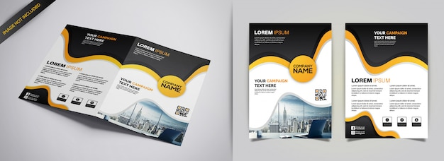 パンフレットのデザインテンプレート Premiumベクター