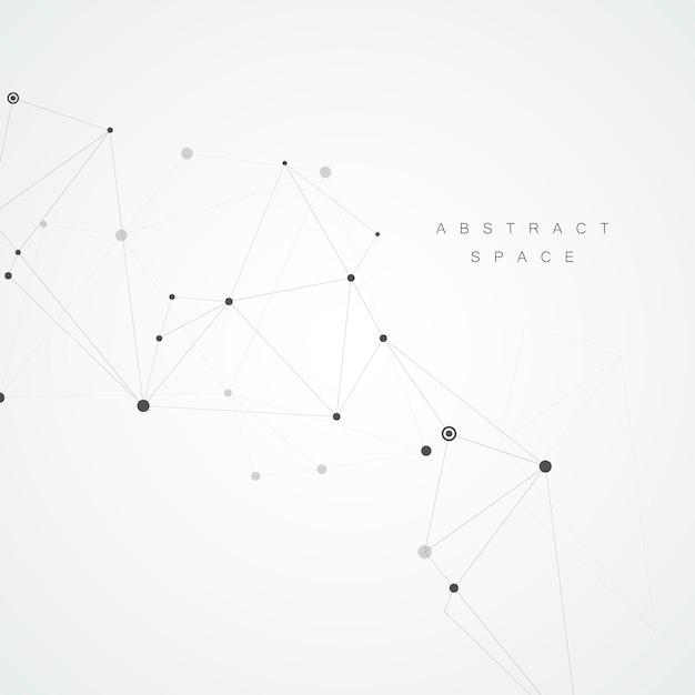 抽象的な分子と技術の背景 Premiumベクター