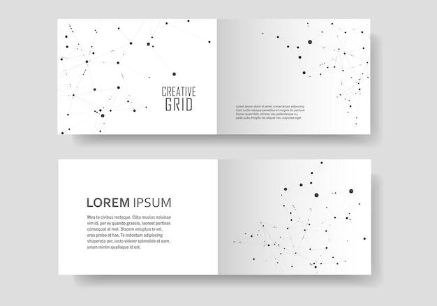 Современная обложка брошюры с технологическим дизайном Premium векторы