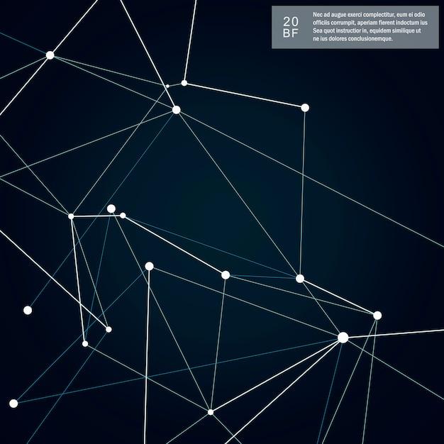 Абстрактные формы фон и технологии сети Premium векторы