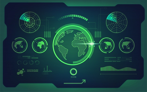 スクリーン地球 Premiumベクター