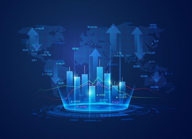 Биржевые биржевые технологии Premium векторы