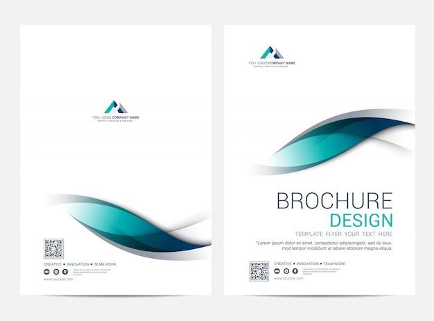パンフレットレイアウトテンプレート、表紙デザイン Premiumベクター