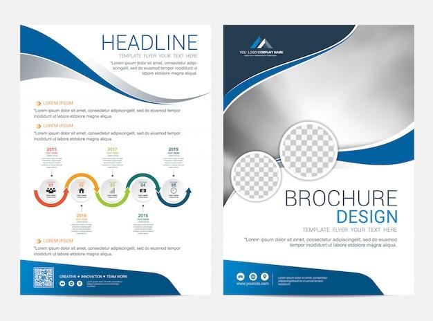 Шаблон макета брошюры, листовка листовка дизайн обложки фон Premium векторы