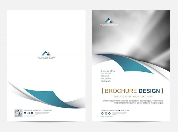 Шаблон макета брошюры, дизайн обложки Premium векторы